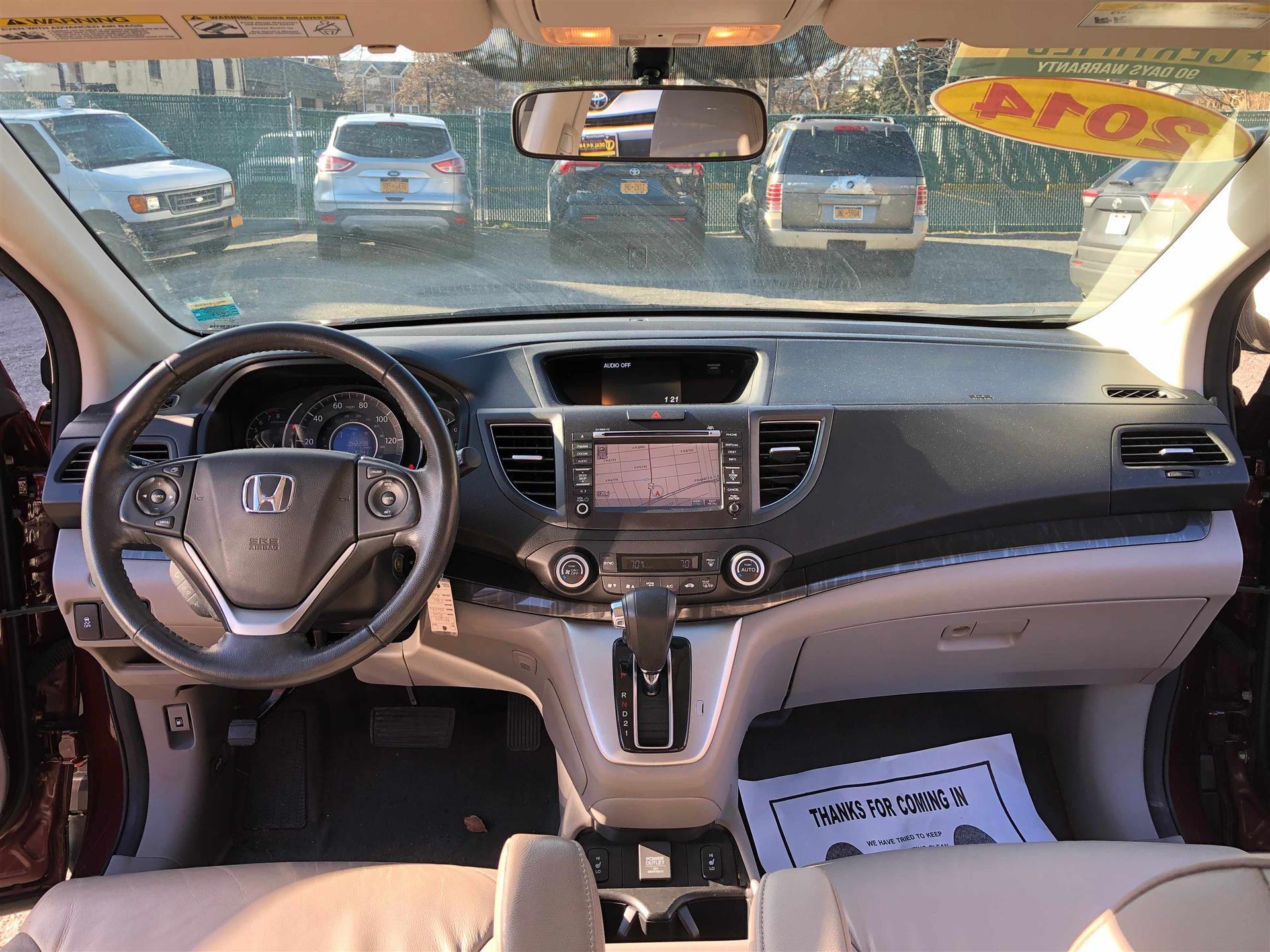 价格挺好的:2014honda CRV EXL AwD 加导航, 皮椅 天窗 , 只开了42000miles, 1首车主 车子状态好